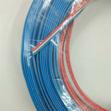 18AWG 3 pin flat Ribbon  Cable with molded connector,100m/roll,Red white cable core