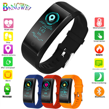 цены на LIGE 2019 New Sport Smart Bracelet Bluetooth Heart Rate Monitor IP67 Waterproof Fitness Tracker Smart Watch Men For IOS Android  в интернет-магазинах