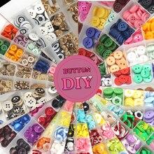 1 упаковка Кнопка coulorful с коробкой конфетных цветов Мультфильм смолы детей швейные кнопки для ткани DIY ремесла аксессуары DIY