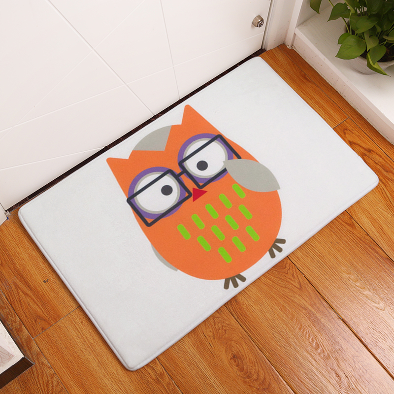 Good 2017 New Owl Print Carpets Non Slip Kitchen Rugs For Home Living Room Floor  Mats