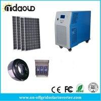 Off Grid Solar Kit 4.5kw 61kwh Grande Gel Banco Solar 10kVA/8kw Inversor/Carregador 120A PWM/CABOS