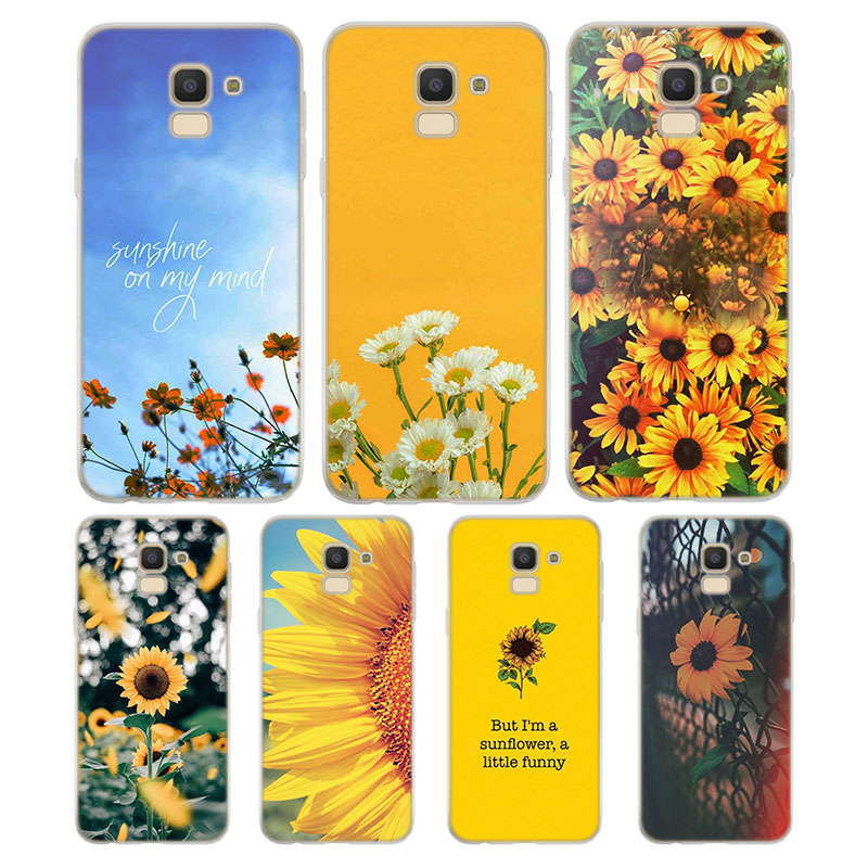 Silicone Case Sunfowers fantasy show Printing for Samsung Galaxy j8 j7 j6 j5 j4 j3 Plus Prime 2018 2017 2016 Case Cover image