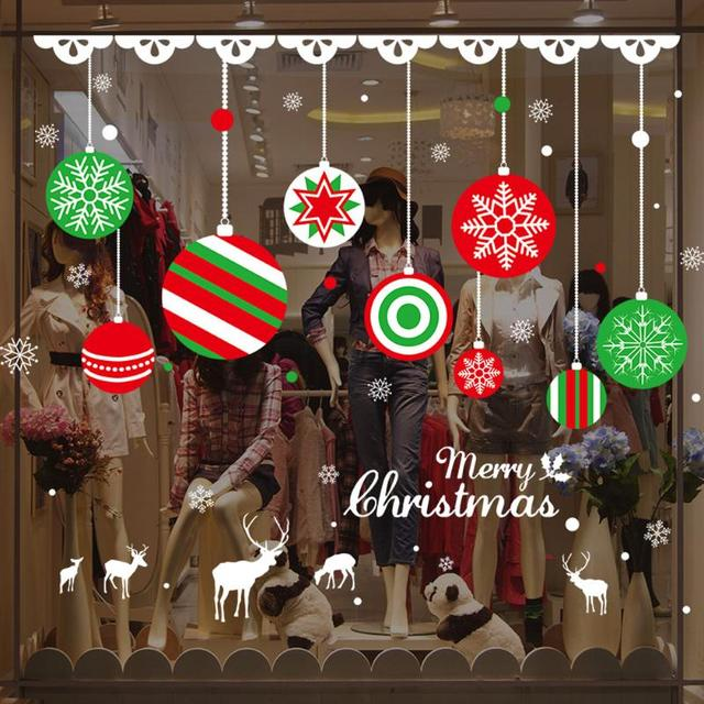 Christmas Window Decals.Us 1 98 12 Off Snow Flakes Window Stickers Winter Snowflake Wall Stickers New Year Christmas Window Wall Decals Xmas Christmas Decoration In Wall