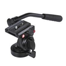 Kingjoy KH 6750 câmera de alumínio flexível tripé cabeça vídeo fluido cabeça tripé para canon nikon e outras câmeras dslr f20859