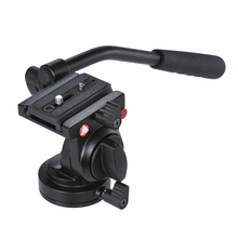 Kingjoy KH 6750 גמיש אלומיניום מצלמה חצובה ראש נוזל וידאו חצובה ראש עבור Canon ניקון אחרים DSLR מצלמות F20859
