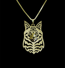 Maine Coon Cat  Silver/Gold Necklaces & Pendants For Women Casual Jewelry Charms Dog Necklace  Free shipping