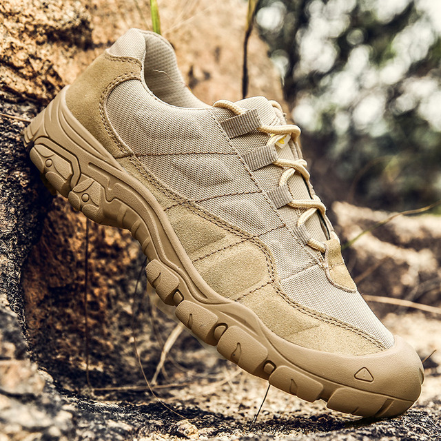 Genuine leather Men Hiking Shoes Outdoor Waterproof Breathable Tactical Combat Army Boots Desert Training Sneakers Trekking Shoe
