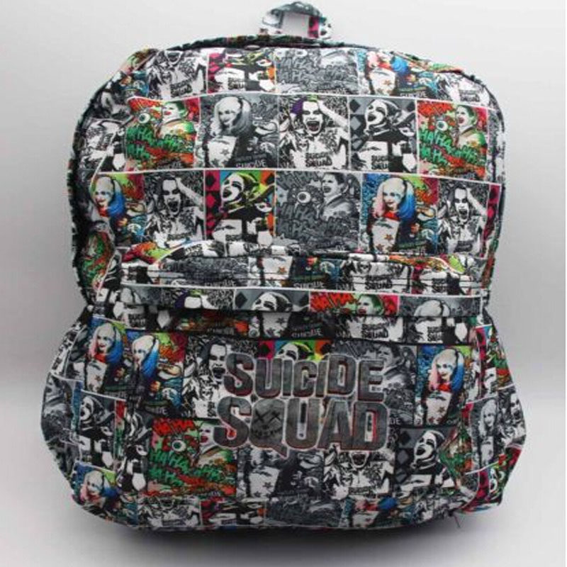 Harley Quinn Joker Backpack Colorful School Bag Laptop