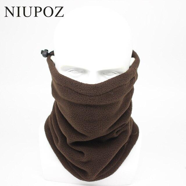 Los hombres de moda invierno sólido Bandana diadema bufanda pañuelo multifuncional sin costura Tubular de la bufanda de la cabeza cara máscara bufanda anillo Unisex