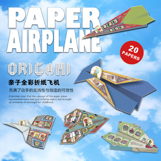 classic childhood origami toy fold n fly paper airplanes kit 20
