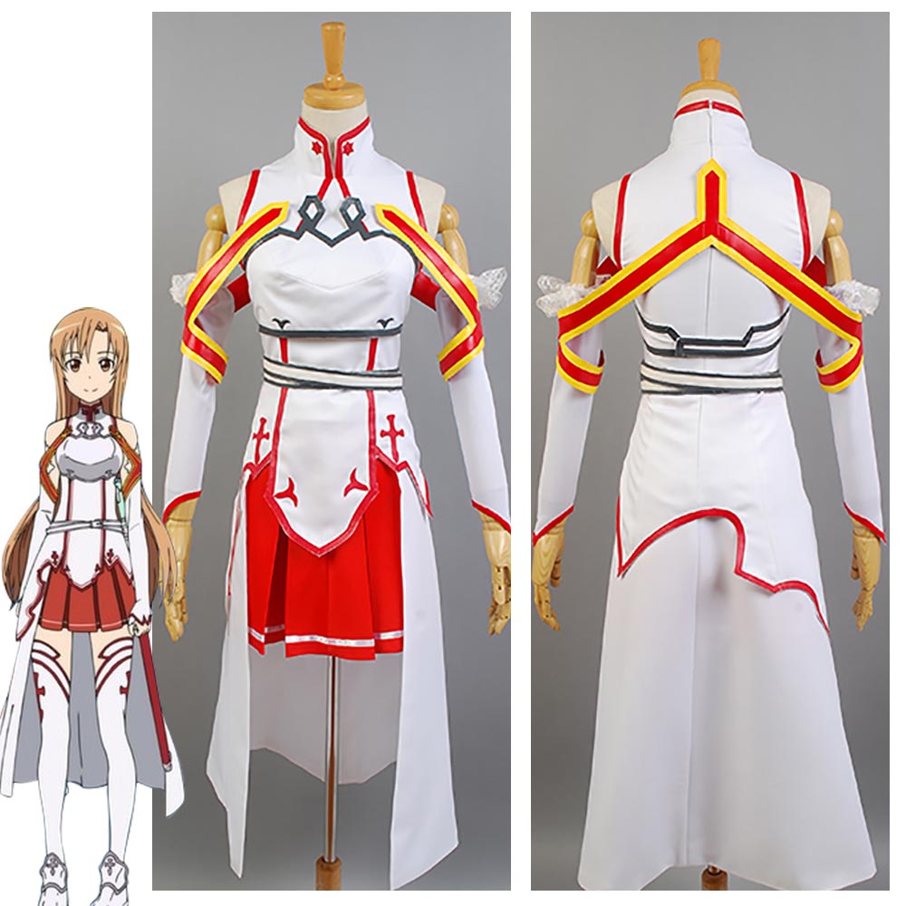 Sword Art Online Asuna Cosplay Costume Halloween Carnival Costumes For Women Girls