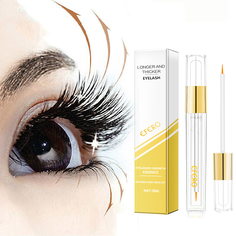Eyelash Enhancer Serum Eye Lash Growing Essence Oil Eyelashes Growth Serum Eyebrow Natural Longer Thicker Essential Oil Eye Care