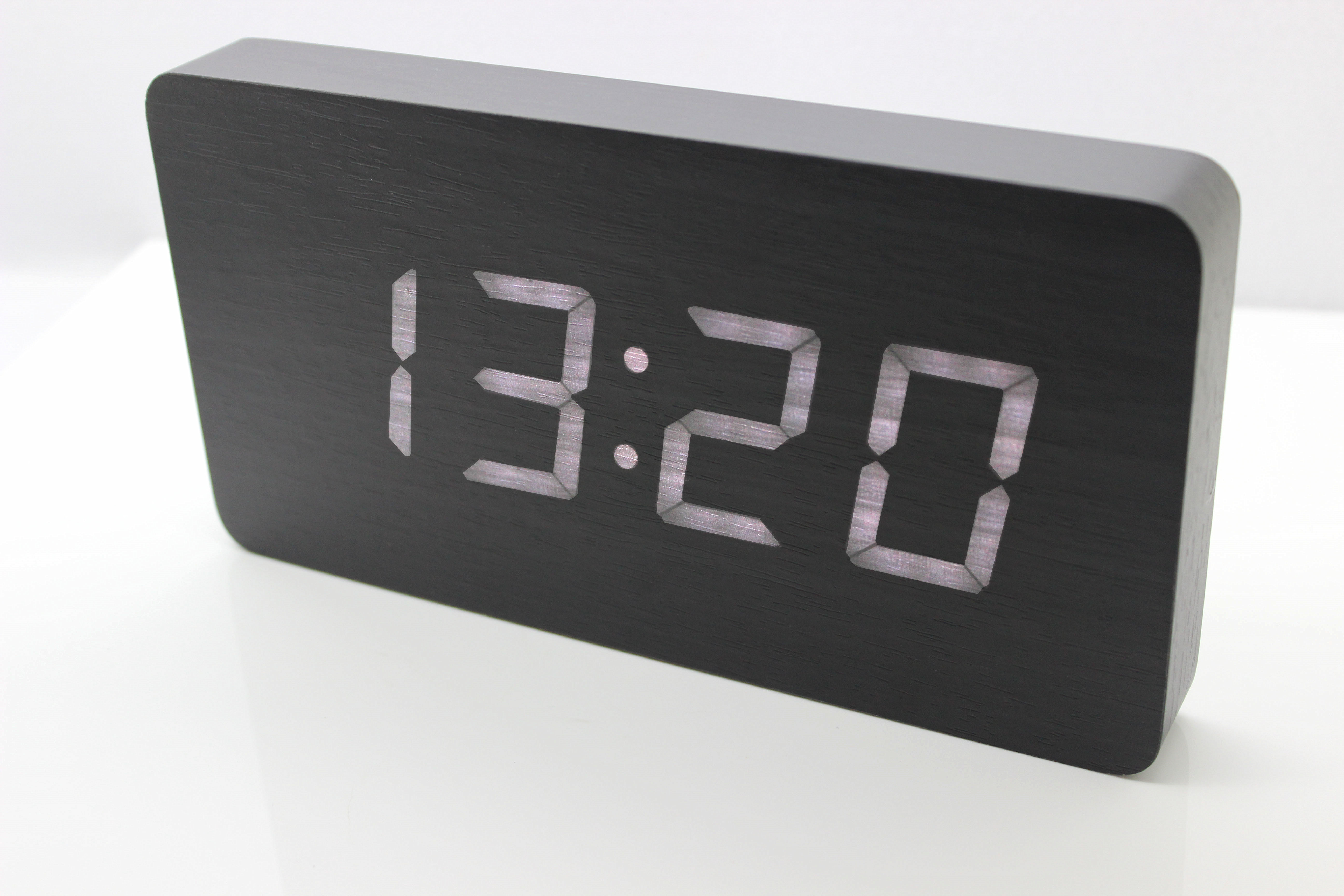 Ultra thin wall clock led wood clock wood wall mounted electronic product detail amipublicfo Image collections