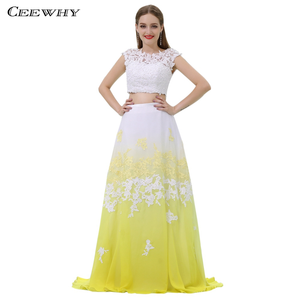 CEEWHY Two Piece Arabic Evening Gown Prom Dresses Lace Saudi Arabia Evening  Dresses Turkey Vestido de Festa Longo Abendkleider b342b4fca4b2