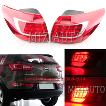 MIZIAUTO Outer Inner Rear Tail light for KIA Sportage R 2009-14 Q5 Style Brake Lamp LED brake Light Warning Assembly