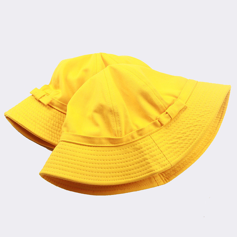 Aliexpress.com   Buy UNIKIWI Women s Bright Yellow Bow knot Bucket Hat Caps  Lady Girl s Canvas Travel Sun Hat Bow Fisherman Panama Hats Can Be Folded  from ... ef85d4f58e2