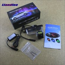 цена на Liandlee For Nissan Tiida / Versa Hatchback Car Laser Light Prevent Rear-end Warning Laser Light Haze Rain Fog Snow Lights