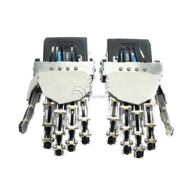 Humanoide manipulador cinco dedos dedo antropomórfica mano izquierda/derecha mano con servo para robot bípedo diy