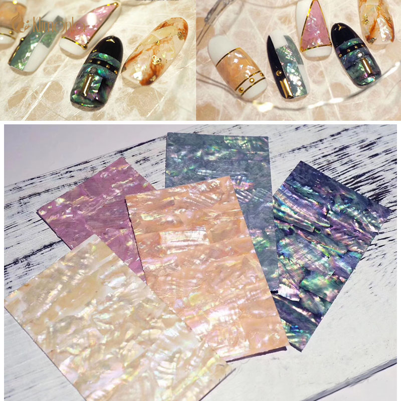 1pcs Colorful Full Cover Nail Stickers Shell Adhesive Nail Wraps DIY Ultra thin Nail Art Decoration Sticker For Ladies Stickers & Decals    - AliExpress