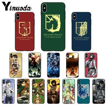 Yinuoda Anime Japanese attack on Titan TPU Soft Silicone Phone Case Cover for Apple iPhone 8 7 6 6S Plus X XS MAX 5 5S SE XR lavaza ybn nahmir soft case for apple iphone 6 6s 7 8 plus 5 5s se x xs max xr tpu cover