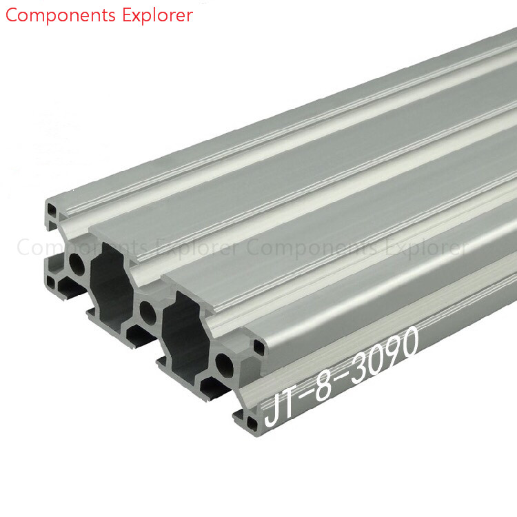 Arbitrary Cutting 1000mm 3090 Aluminum Extrusion Profile,Silvery Color.