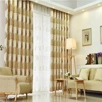 De alta calidad de algodón y lino deja las cortinas, adecuado para el dormitorio estudio sala de estar decorativa tela de sombra y gasa