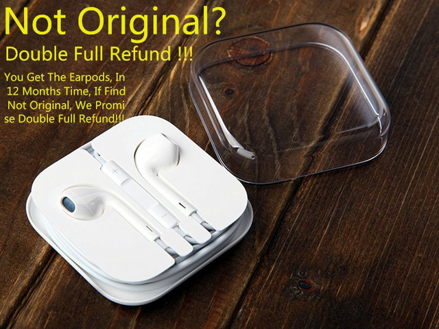 100% Guaranteed Original Earpods Genuine Earphones With Mic And Control For Mobile Phone 5 5S 5C 6 6Plus 6S 6S Plus In Stock