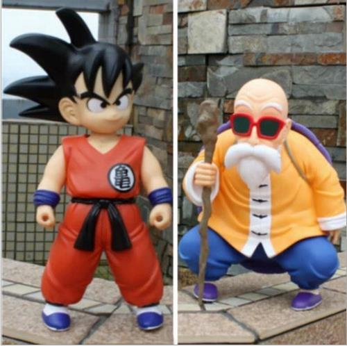 2pcs/set Dragon Ball Z Goku Master Roshi Action Figure PVC Collection figures toys christmas gift brinquedos with Retail box free shipping anime dragon ball master roshi pvc action figure collection model toy 25cm orange new loose