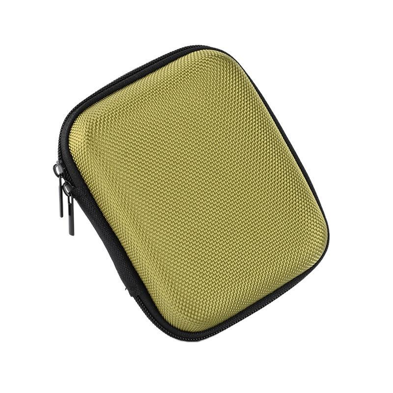 PU EVA Storage Carrying Hard Bag Box for USB Data Line 15 * 10 * 3 cm Earphone Headphone Organizer Bag Pouch Box