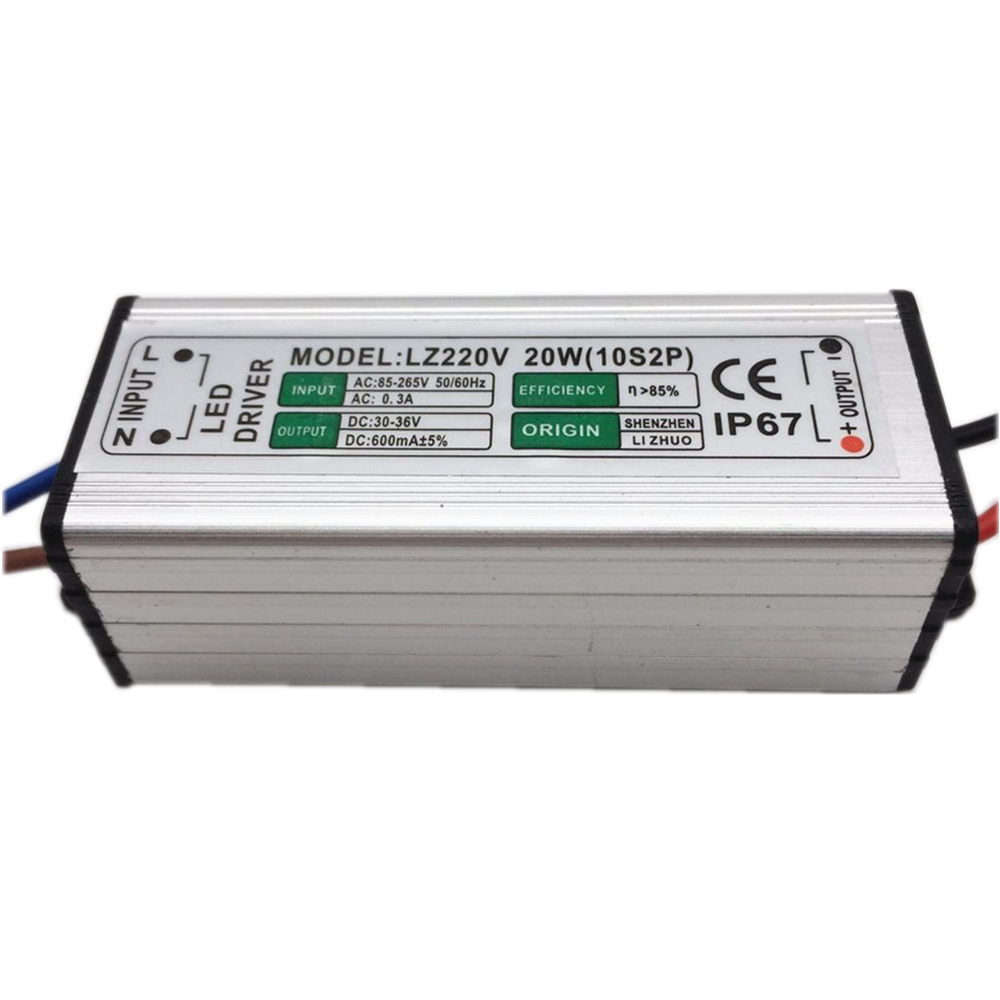 10pcs LED drajver 600mA 20W AC85V-265V do DC30-36V Power Adapter - Različiti rasvjetni pribor - Foto 4