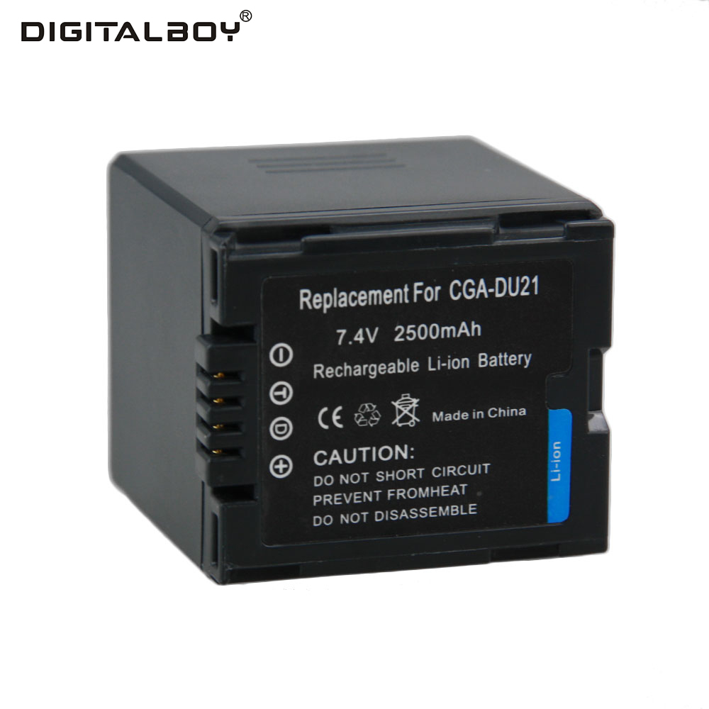 Hot Sale 1pcs CGA-DU21 CGADU21 CGA DU21 7.4V 2500mah Li-ion Camera Battery For Panasonic PANASONIC CGR-DU06 CGA-DU06 1pcs cga s006 cga s006ebattery charger car charger for panasonic cgr s006a 1b bp dc5u cgr s006e