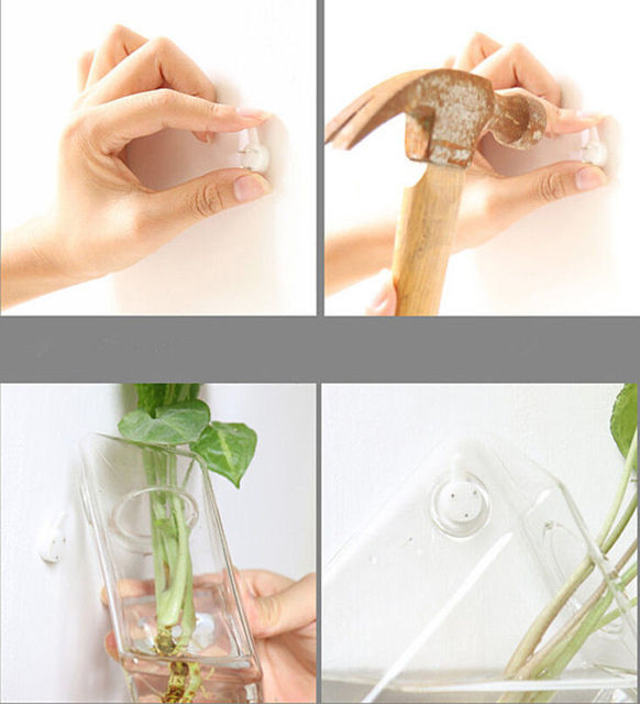 Transparent Glass Wall Mounted Hanging Hydroponics Vase Terrarium Bottle Air Planter Flowers Container Modern Home Office Decor 4