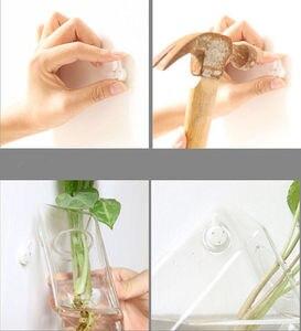 Прозрачная стеклянная настенная подвесная ваза для гидропоники бутылка террариума воздушная плантатор емкость для цветов современный домашний офисный Декор