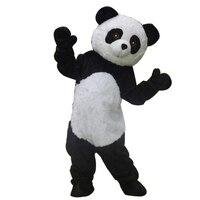 Mascotshows Levensechte Lange Pluche Panda Mascot Kostuum Leven Full Body Beer Karakter Outfits Voor Kid's Verjaardagsfeestjes