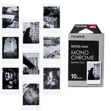 חדש 10pcs Fujifilm Instax מיני סרט מונוכרום עבור מיני 9 8 7s 7 50s 50i 90 25 dw לשתף SP 1 פולארויד מיידי תמונה מצלמה