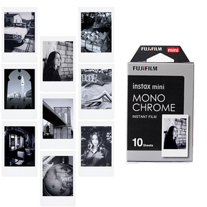 Image 1 - New 10pcs Fujifilm Instax Mini Film Monochrome For Mini 9 8 7s 7 50s 50i 90 25 dw Share SP 1 Polaroid Instant Photo Camera