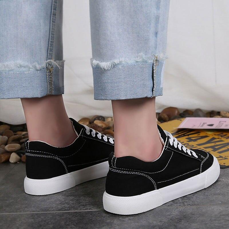 Dentelle Nouvelles Couture Noir Chaussures Peu 2 Mode Décontracté Kelly Femmes De Profonde 2019 Sac Solide 1 Toile blanc N80Oyvmnw