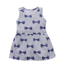 new designed baby girls summer dresses kids new style cartoon dress with printed some lovely ladybugs hot selling clothing(China)
