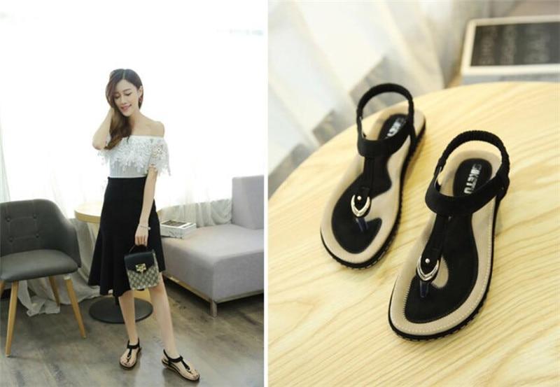 HTB1dgjjDY1YBuNjSszeq6yblFXay Summer Shoes Women Bohemia Ethnic Flip Flops Soft Flat Sandals Woman Casual Comfortable Plus Size Wedge Sandals 35-45