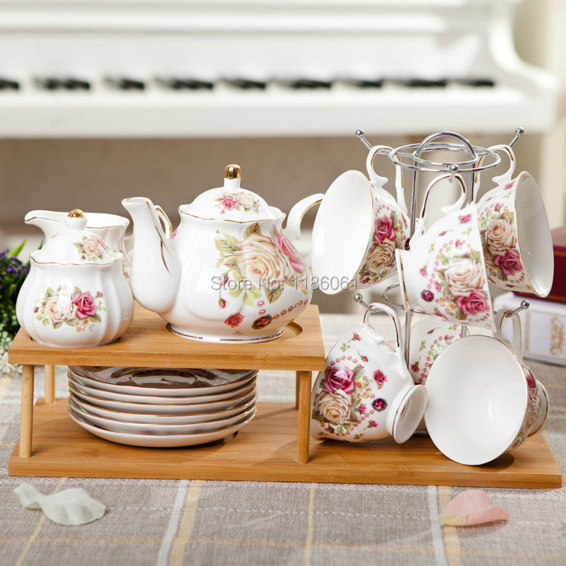 Coffee Cup Set With Stand The Table