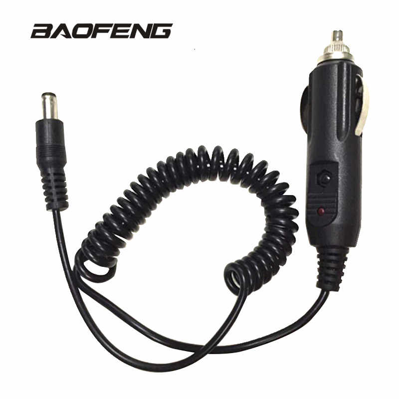 Auto Aansteker Slot Charger Cable Voor Baofeng UV-5R UV-5RE 5RA Walkie Talkie Charge Base 12V Dc Power Opladen Voor radio Cord