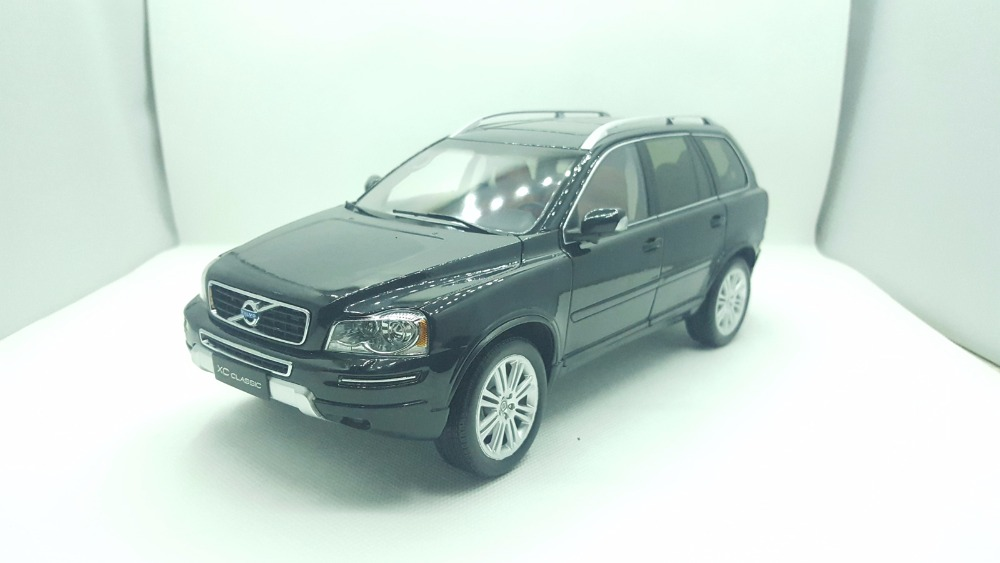 1:18 Diecast Model for Volvo XC90 XC Classic Black SUV Alloy Toy Car Miniature Collection Gifts XC 90 1 18 diecast model for buick lacrosse black classic sedan alloy toy car collection gifts