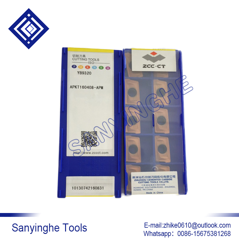 Free shipping YB9320 APKT160408 APM APKT160412 APM APKT160416 APM cnc carbide milling inserts cutting tools