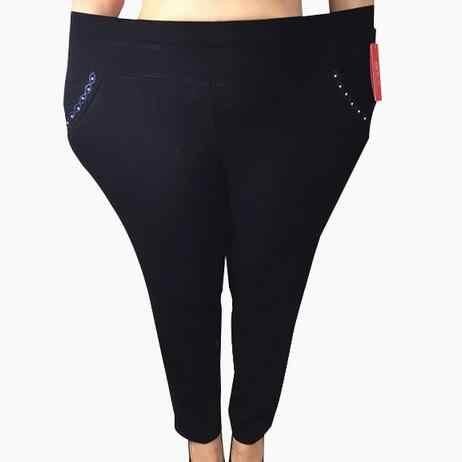 2019 Pantalon Femme Quần Dài Cho Phụ Nữ Pantalones Mujer Thể Thao Cổ Điển Quần Pantalon Lớn Femme Capri 7XL 6XL DJ242