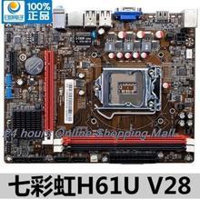 H61U V28 motherboard 1155 DDR3 Supports V28 Micro ATX Socket LGA 1155 G1620 H61 HDMI