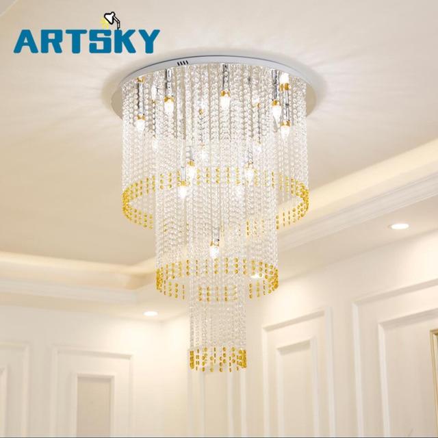 Grande taille Moderne Lustre En Cristal Lampe grand lustres En