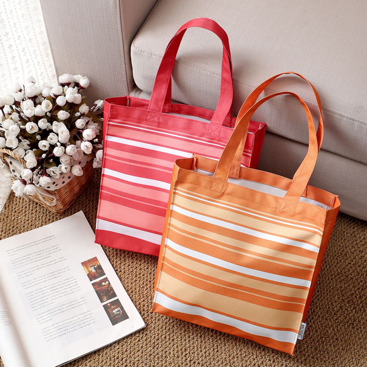 Red/Orange Reusable Supermarket Folding Shopping Bags Portable Oxford bags Thick bag Foldable Waterproof Shoulder Bag Handbag