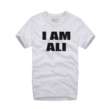 2016 new style MUHAMMAD ALI T Shirts Men Funny slim fit Man TShirt Cotton O Neck Mens t shirt homme I am ALI printed Tops Tees