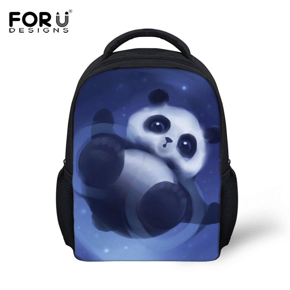 e5aa633857 FORUDESIGNS 12inch Cute Animal Small Backpacks For Children Shoulder Bag  Kindergarten Baby School Bag Panda Printing Backpack -in School Bags from  Luggage ...