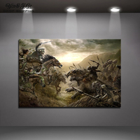 Modular Picture Artwork Movie Poster Frame 1 Piece The Lord of the Rings Abstract Canvas Painting HD Print Decor Room Wall Art